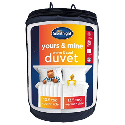 Silentnight Yours and Mine Duvet, Double, Dual Tog Quilt, 10.5 Tog Cooler on One Side, 13.5 Tog Warmer on the Other
