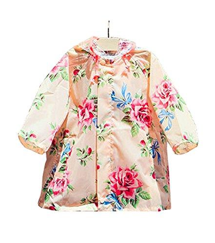 Baby-girls Robe de princesse pluie Mode enfants pluie Style rétro [B] S