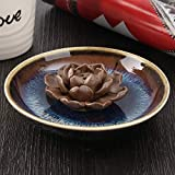 DyNamic Räuchergefäßhalter Aus Keramik Lotus Plate Censer Raumdüfte 3 Räucherlöcher