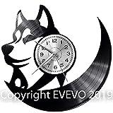 EVEVO Lobo Reloj De Pared Vintage Accesorios De Decoración del Hogar Diseño Moderno Reloj De...