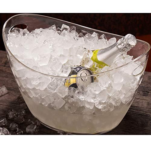 SMEJS Portaghiaccio, Acrilico Trasparente Litri Buono for Un Massimo di Vino o Bottiglie di Champagne Ice Bucket