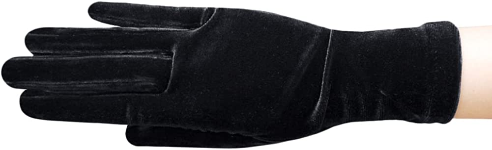 ZAZA BRIDAL Stretch Velvet Gloves Wrist Length 2BL