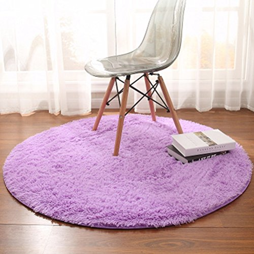 WLH- Tapijten yogamat Hangende mand Rattan Cushion Computer Stoel vloermatten woonkamer koffietafel Slaapkamer Deken (Color : Purple, Size : 80cm)