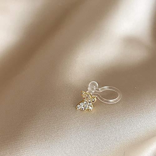 Nuevos Pendientes Bonitos De Mariposa De Color Dorado con Diamantes De Imitación A La Moda para Mujer Sin Piercing Pendientes De Cartílago Falso Regalos Más Pequeños
