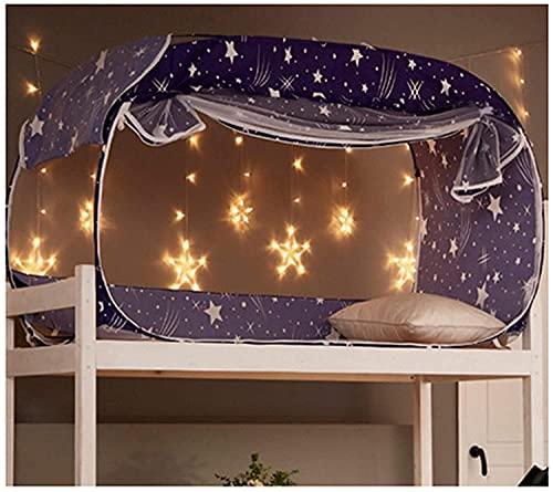 Pkfinrd Mosquitera, Tienda emergente Dormitorio Dormitorio Dormitorio Dormitorio Superior Bunk Bunk Universal, Star