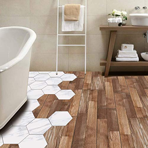 Fliesenaufkleber für Küche und Bad | Dekor Holz Boden | Fliesenfolie für 15x15cm Fliesen | Klebefliesen