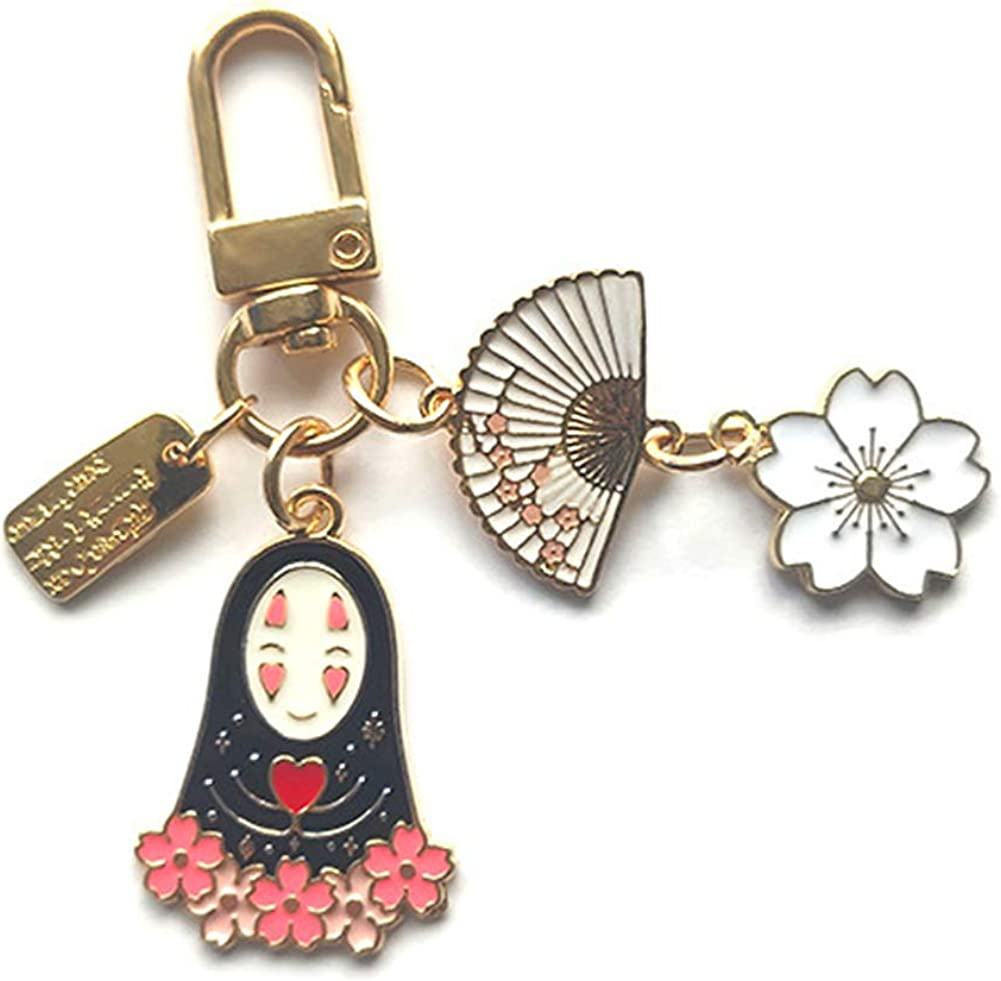 tealn Anime Spirited Away Max 69% OFF No Chain Face Ghibli Spiri Factory outlet Key