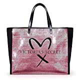 Victoria's Secret Pink Showstopper Sequin Bling Tote Bag