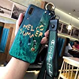 Ins jade wristband Huawei P20 mobile phone shell silicone all-inclusive P20 youth protection P20 pro net red ink green lanyard