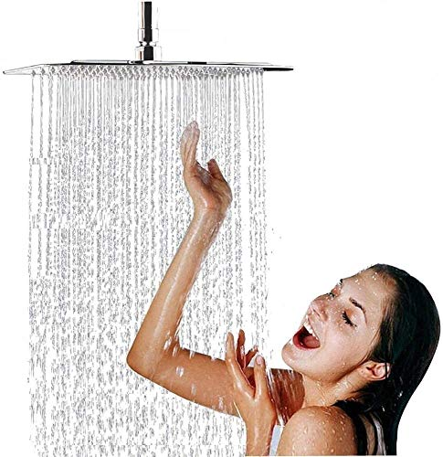 Cocoarm - Ducha de lluvia (cuadrado, 50 x 50 cm, efecto espejo)