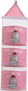 Ktyssp Storage Hanging Bag Holder Wall Mounted Door Pouch Bathroom Organizer Cotton Linen Storage Bag Load Storage