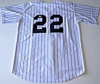 Jacoby Ellsbury Yankees Autographed Signed Home White Pinstripe Jersey JSA K13188