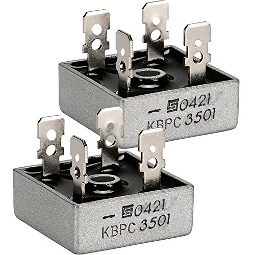 (Pack of 2) SOLID STATE KBPC3501 Bridge Rectifier, 1PH, 35A, 100V QC