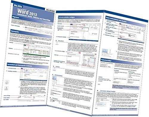 Word 2013 Seriendruck: Briefe, Etiketten und Umschläge