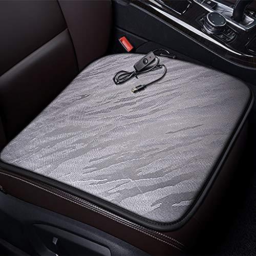 USB-stoelverwarmingskussen, verwarmbaar zit- en rugkussen, werkt via USB-powerbank, 45 x 45 cm, voor thuis, bureaustoelen, autostoelverwarming