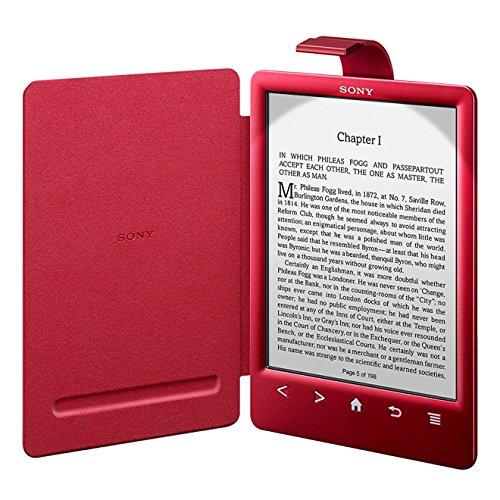 Sony PRSACL30RC.WW2 - Funda para ebook PRS-T3 (cubierta con luz), color rojo