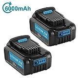 2Pack 20 Volt MAX 6.0Ah Lithium Ion Premium Battery for Dewalt 20V Battery DCB204 DCB205 DCB206 DCB205-2 DCB200 DCB180 DCD985B DCD DCF DCG Series