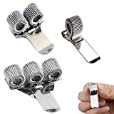 Metal Pen Holder Clip, Jicyor 12pcs Set Plata Lápices Bolígrafos Clips Resorte Pocket Clip Ajustable Portalapices Metal para Hogar Cocina Oficina Casa Hospital Pizarra