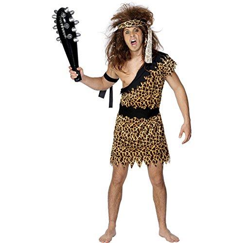 Smiffys Costume da cavernicolo con abito, copricapo e bracciali