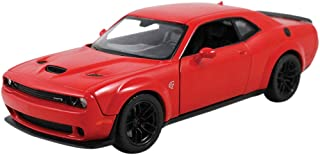 Motor Max 2018 Dodge Challenger SRT Hellcat Widebody, Red 79350R - 1/24 Scale Diecast Model Toy Car