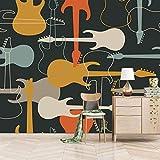 Msrahves posters para pared Color música instrumentos musicales guitarras Fotomural Vinilo de Pared Paredes Decoración Hogar fotomurale 3d fotomurale da parete fotomurales decorativos pared papel pint