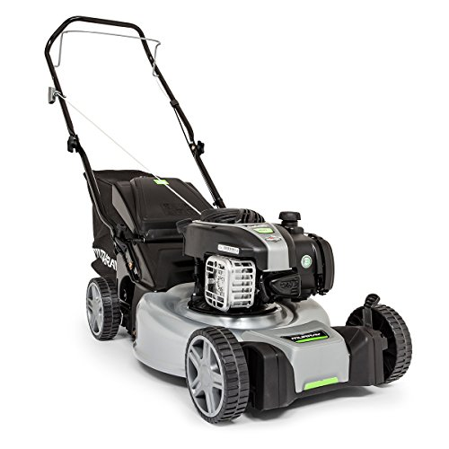 "Murray EQ 400 18""/46 cm Petrol Push Lawnmower with Briggs & Stratton 450E Series Engine, Grey/Black, Small"