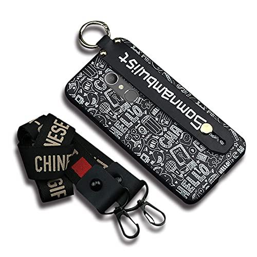 Funda de goma brillante Lulumi para teléfono compatible con Alcatel 1X, pulsera de moda, resistente a la suciedad, a prueba de golpes, impermeable, para mujer, diseño suave, color negro
