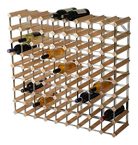 RTA 81 Bottiglia tradizionale vino Rack-Kit-Natural Pine (FSC), legno, 91 x 81 x 23
