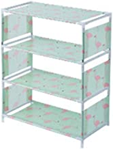 COODIO Multilayer Non-Woven Shoe Rack Organizer for Living Room Bedroom Green 4layers