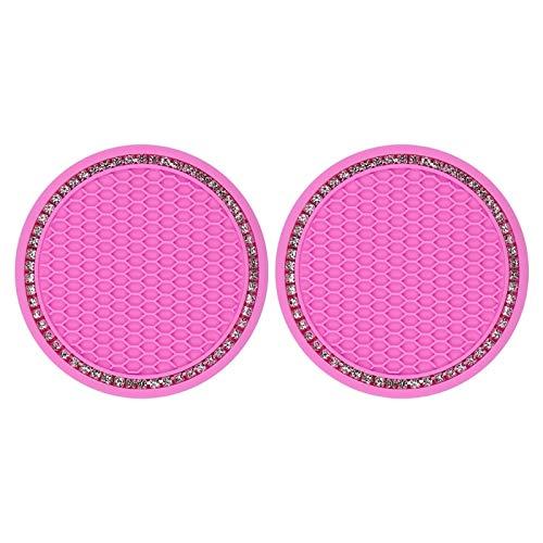 Ltjqsm Posavasos de automóviles, Piezas de automóviles, Posavasos de cojín Antideslizantes Personalidad Creativa (Color Name : Pink)