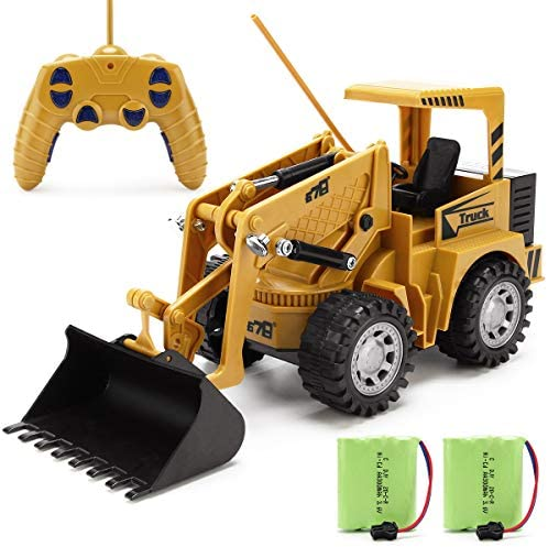Remote Control Construction Toy RC Bulldozer 1 24 Front Loader RC Tractor Vehicles with 2 Rechargeable product image