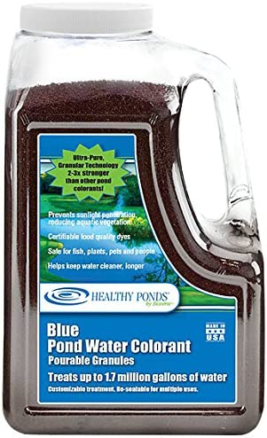 Healthy Ponds Pond Water Dye Blue Pourable Granules 17 6 Ounces Treats up to 1 7 Million Gallons product image