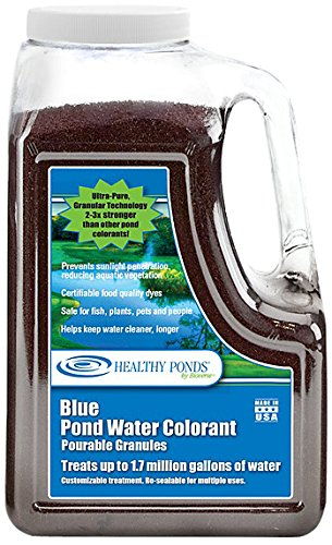 Healthy Ponds 52015 Pond Water Colorant, Blue, Pourable Granules, 17.6 Ounces, Treats up to 1.7 Million Gallons