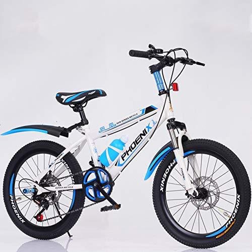 Kinder Fahrrad,Gang-schaltung Mountainbike,Doppelscheibenbremse Gabelfederung Mini MTB Für Anfänger Kinder Student Unisex C 18