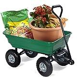 Happygrill Garden Cart Wagon Large Garden Patio Wheel Barrow, 650 lbs Capacity Dump Carrier