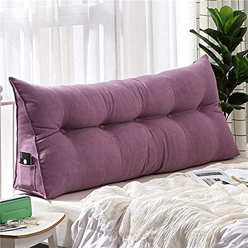 LAMTON Cojín de noche desmontable con forma de triángulo para lectura, respaldo doble, almohada larga Tatami, cojín de cabeza de cama (color: C, tamaño: 100 x 50 x 20 cm (39 x 20 x 8))