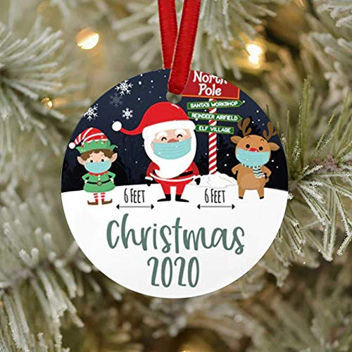 milkcha 2020 Christmas Ornament, 2020 Quarantine Ornament, Funny Quarantine Gift for Friends and Families, 2020 Event Ornament, 2020 Events Keepsake Keepsake, Ornament to Remember This Year! (G)