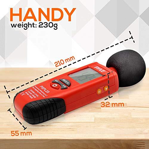 Pyle PSPL25 Mini sonomètre avec pondération de fréquence