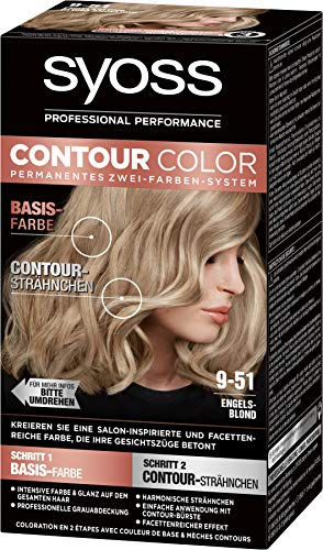 SYOSS Contour Color Stufe 3 9-51 Engelsblond, permanentes Zwei-Farben-System, 1er Pack (1 x 183 ml)