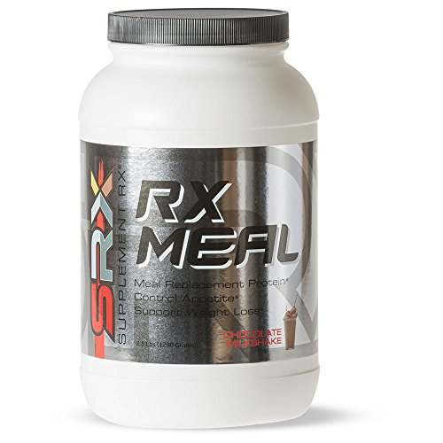 Supplement Rx (SRX) - Rx Meal Protein Chocolate Milkshake, Lean Whey Protein Powder Complete Meal Replacement Shakes for Weight Loss, Fiber, Keto Shake, 0 Carb, Low Sugar, 30 Servings