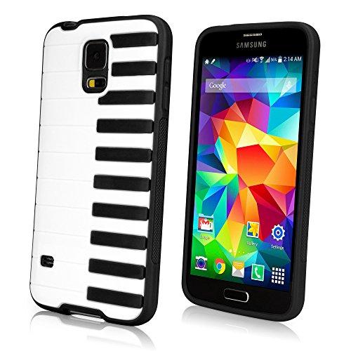Galaxy S5 Case, BoxWave [Sonata Case] Hybrid Hard Shell Case with Piano Keyboard Design for Samsung Galaxy S5