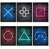 Jumant PRINTED Neon Gaming Posters - UNFRAMED 8'x10' - Gaming Wall Decor - Posters for Boys Video Game Room Decor - Gamer Wall Decor - Playstation Decor - Boys Bedroom Decor - Gaming Room Decor Art