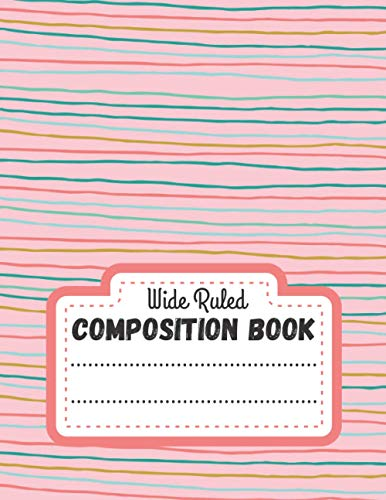 Composition Book Wide Ruled: Lined notebook paper - Christmas Presents ideas For Adults, Kids & Teen - Xmas gift journal - Note Taking Dairy