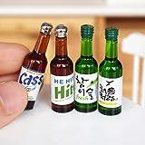 4 Flaschen 1/6 Miniatur-Puppenhaus Bier Korea Soju Modell Pretend play Getränke für Blyth BJD...