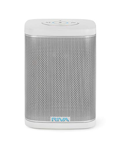 RIVA Concert with Alexa Built-in – Finally A Wireless Smart Speaker That Sounds Truly Amazing – WiFi, Airplay and Bluetooth Connectivity, Splash Resistant and Optional Battery (White)