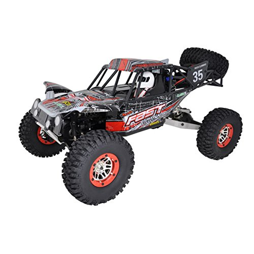 VOITURE SAND MASTER ROUGE 1/10 4x4 BRUSHED RTR