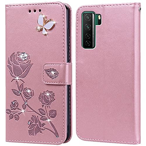 Hülle für Huawei P40 Lite 5G,Handyhülle für Huawei P40 Lite 5G,Klappbar Tasche Hülle,Standfunktion,Kartenfach,Silikon Bumper,Stoßfeste Schutzhülle Cover für Huawei P40 Lite 5G(6.5