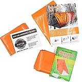 3 Pieces kit di sopravvivenza di emergenza arancione per esterni, include sacco a pelo, coperta termica di emergenza, tenda di emergenza