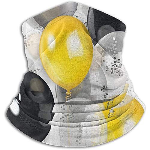Archiba Noir Jaune Argent Transparent Ballons Polaire Thermique Cache-Cou/Cache-Cou Écharpe Visage/Visage Couverture Visage