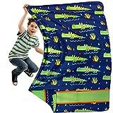 Yayme! Crocodile Blanket for Boys - Alligator Kids' Blankets & Throws - Kids Fleece Blanket for Boys Blanket - Soft Lightweight Polar Fleece Blankets for Kids | Toddler Bedding Kids Throw Blanket